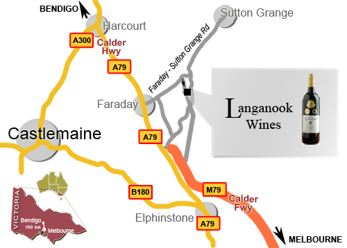 map location langanook wines
